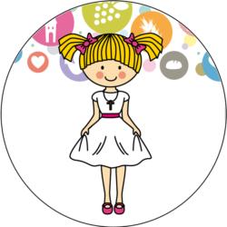 Festlich gekleidetes Mädchen