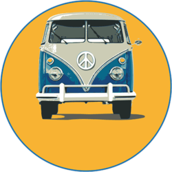 VW Bully (blau-orange)