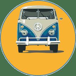 VW Bully (blau-orange)
