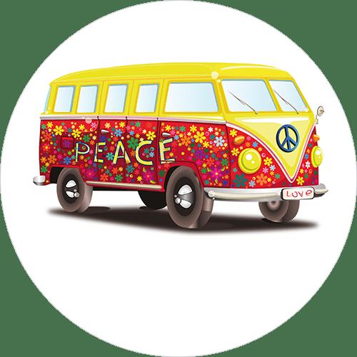 VW Bully bunt 3