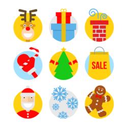 Weihnachtliche Muffinaufleger