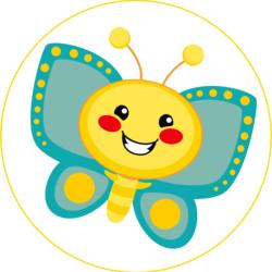 Schmetterling gelb / türkis