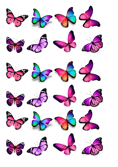 Schmetterlinge lila / pink