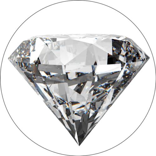 Schillernder Diamant
