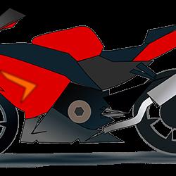 Motorrad rot 1