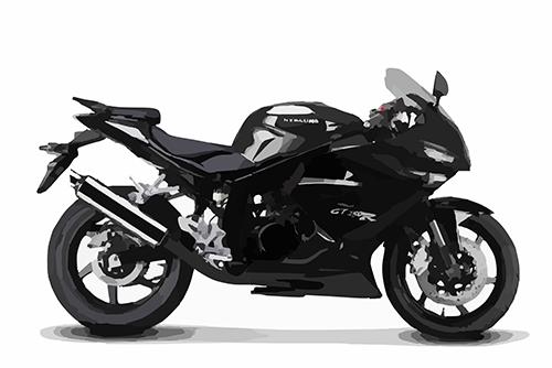 Motorrad schwarz 1