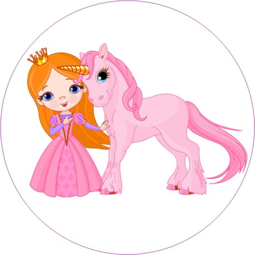 Prinzessin und Einhorn