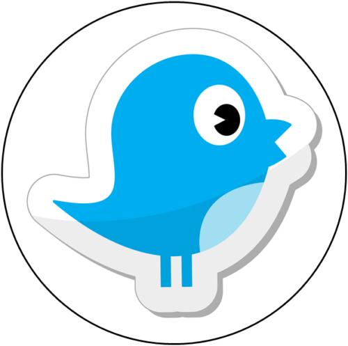 Social Media Bird Tortenaufleger
